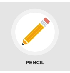 Pencil icon flat vector