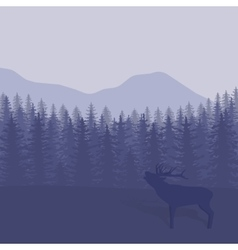 with trees and deer vector image