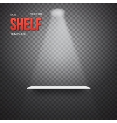 Realistic shelf with transparent lights vector