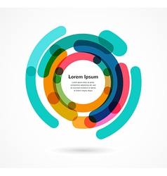 Abstract colorful background infographic vector image vector image