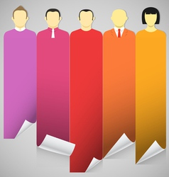 account avatars vector image vector image