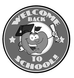 Back to school cartoon logo vector image vector image