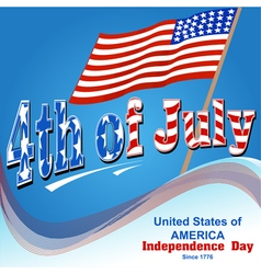 background for independence day of America vector image