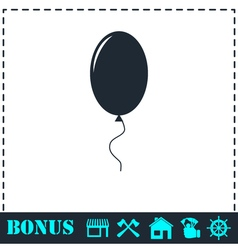 Balloon icon flat vector