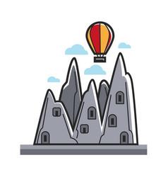 balloon in mountains vector image vector image