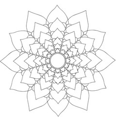 black and white online art geometric round floral vector image vector image