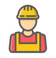 builder filled outline icon build and repair vector image vector image
