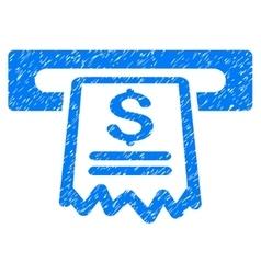 Cashier receipt grainy texture icon vector