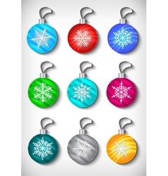 Christmas ball collection vector