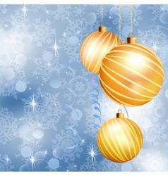 Christmas ball on abstract blue lights EPS 10 vector image vector image