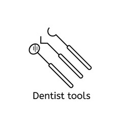 Dental instrument icon set isolated on white vector