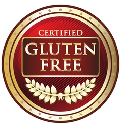 Gluten Free Red Label vector image vector image