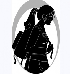 lady vector image