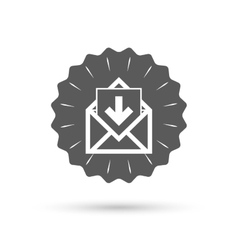 Mail icon envelope symbol inbox message sign vector