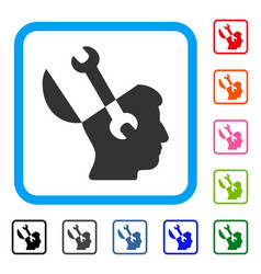 mind wrench tools framed icon vector image vector image