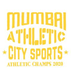 Mumbai sport t-shirt design vector