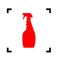 plastic bottle for cleaning red icon vector image vector image