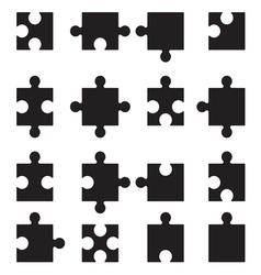 Puzzle set2 vector image vector image