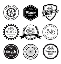 Set of bicycle retro vintage badges and labels vector image vector image