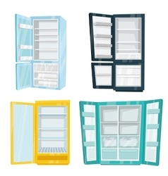 Set of Home and Commercial Refrigerators vector image vector image