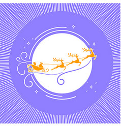 silhouette Christmas Day 3 vector image vector image