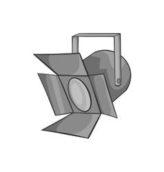 Spotlight icon black monochrome style vector