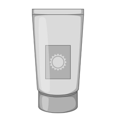 Sunscreen cream icon gray monochrome style vector