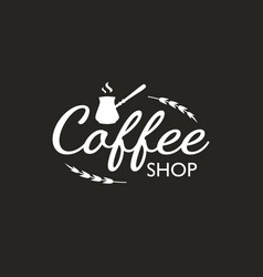 vintage coffee logo template design element vector image