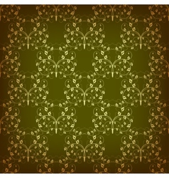 Vintage seamless pattern with swirls vector image