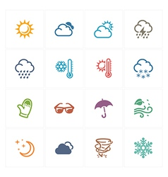 Weather Icons - Colored Series vector image