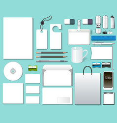 Of a set mock-up of design templates vector