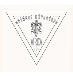 african outdoor adventure logo vector image