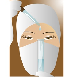 Doctor with test tube vector