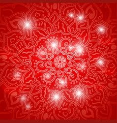 ornamental lotus flower ethnic art vector image