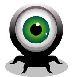 Big eye crawling creepy cartoon character vector