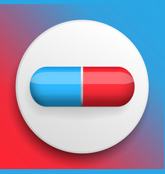 Pills medical button symbol vector
