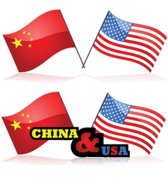 China and the usa vector