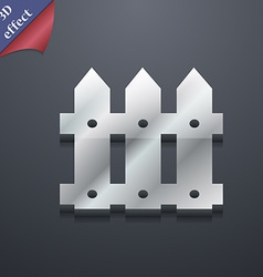 Fence icon symbol 3d style trendy modern design vector