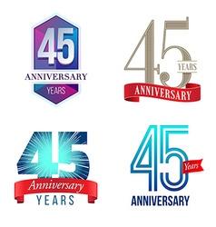 45 years anniversary symbol vector