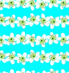 Green and blue tropical frangipani seamless vector