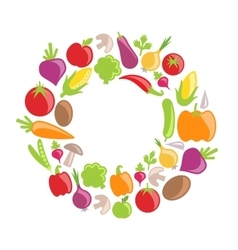 Collection of vegetables and fruits vector