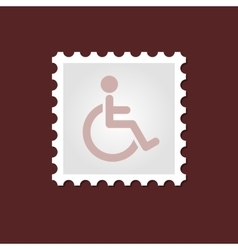 Wheelchair medical stamp vector