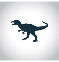 Dinosaurs jurassic animal icon vector