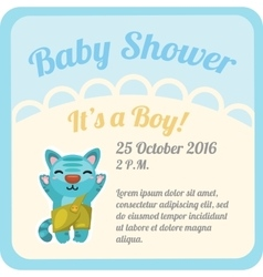Postcard with baby boy and space for text vector