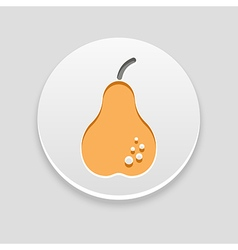 Pear icon fruit vector