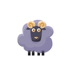 Male sheep simplified cute vector