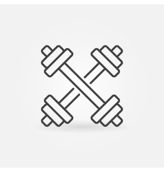 Dumbbells thin line icon vector image