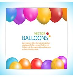 balloon panel background vector image vector image
