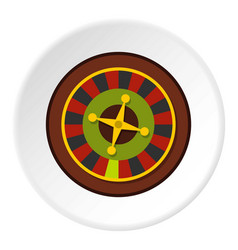 Casino gambling roulette icon circle vector