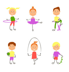 childrens hobbies vector image